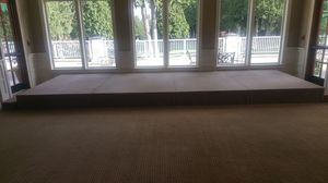 stage for wedding 21 feet wide and 8feet deep