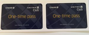 United Club Passes! $25 each, 2 for $45!
