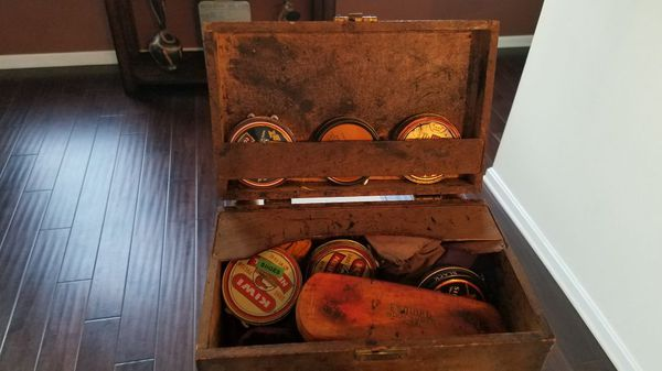 Vintage Shoeshine Kit 1940's