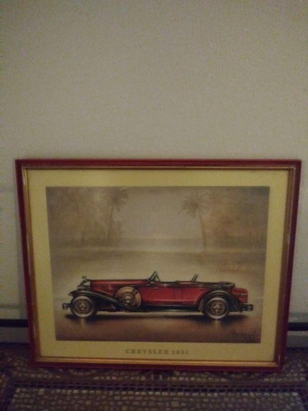Vintage Original Classic Cars Litiograph (Collectibles) in Houston ...