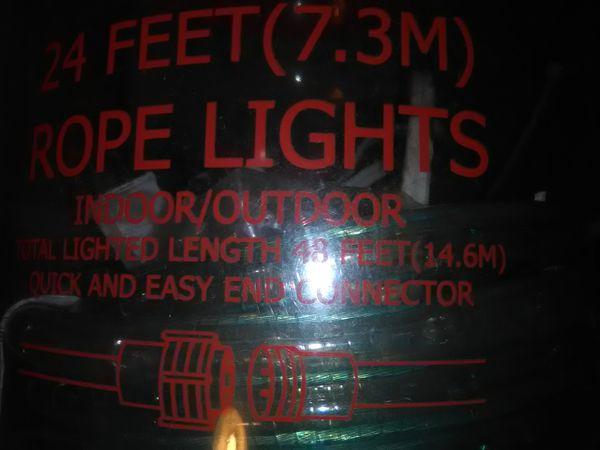 Everstar 24 feet rope lights home garden in burlington wi offerup everstar 24 feet rope lights aloadofball Gallery