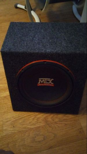 10 inch mtx sub with box and built in amp