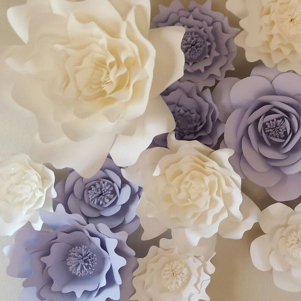 Giant Paper Flower Wall Backdrop Wedding Party