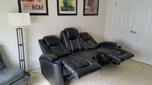 Theater Style Electric Reclining Couch