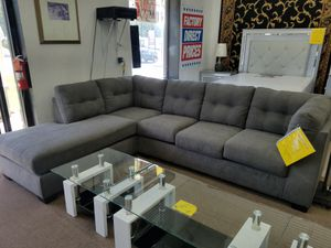 Brand new charcoal color sectional extremely comfortable by Ashley Furniture