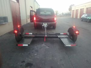 Wide tow dolly with winch