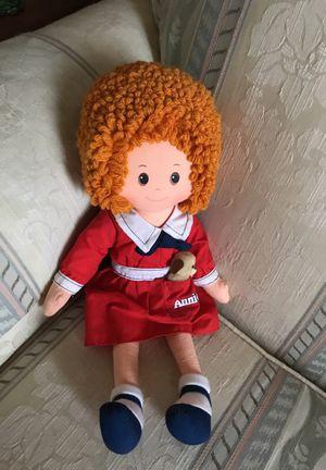 "Vintage 1977 Knickerbocker Little Orphan Annie Plush Doll Toy 16"" w/ Dog Sandy"