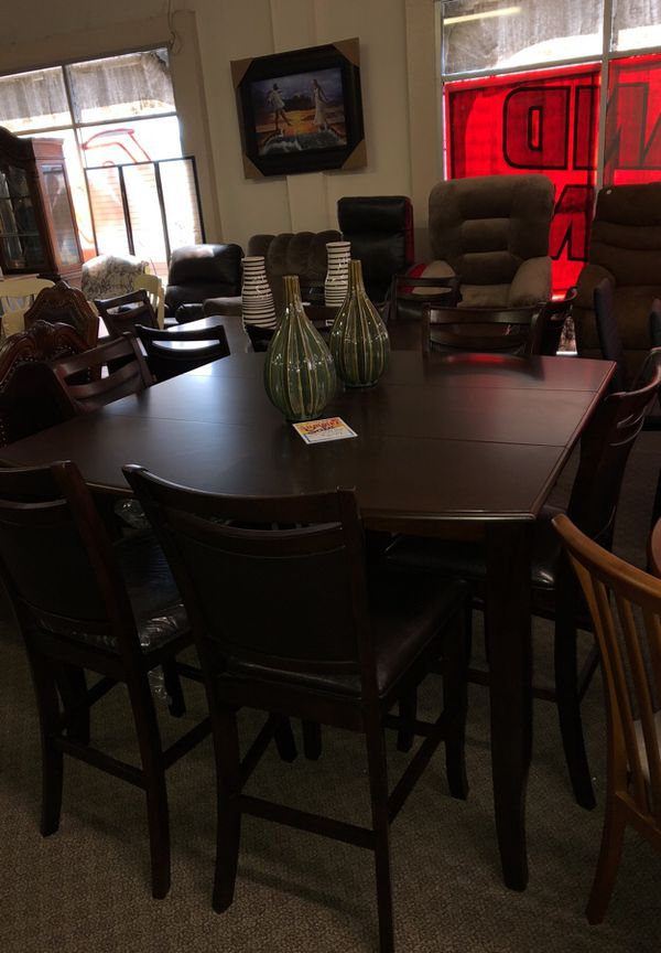 7pcs Counter Height Dining Table Set We Offer No Credit Check Financing