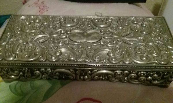 Godinger Silver 1992 Silver Plated Jewelry Box Jewelry
