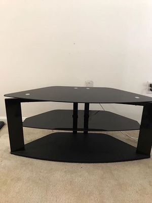 Black Tempered Glass Tv Stand /Console/ Table