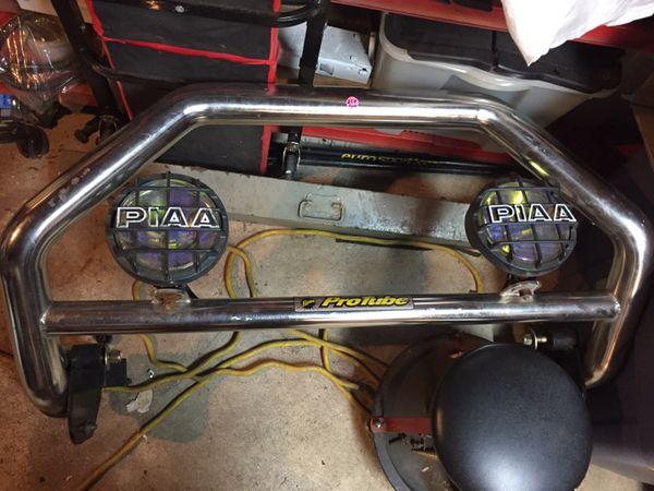 Fisher protube plow frame push bar bull bar piaa fog lights auto fisher protube plow frame push bar bull bar piaa fog lights aloadofball Image collections