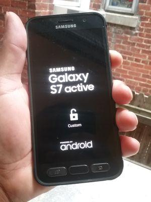 Galaxy s7 Active está Reportado buenas condiciones not cargador sólo el teléfono