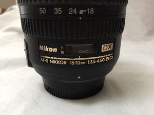 Nikon AF-S Nikkor 18-70mm G ED Lens Excellent