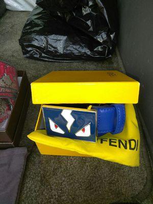 Blue Fendi belt