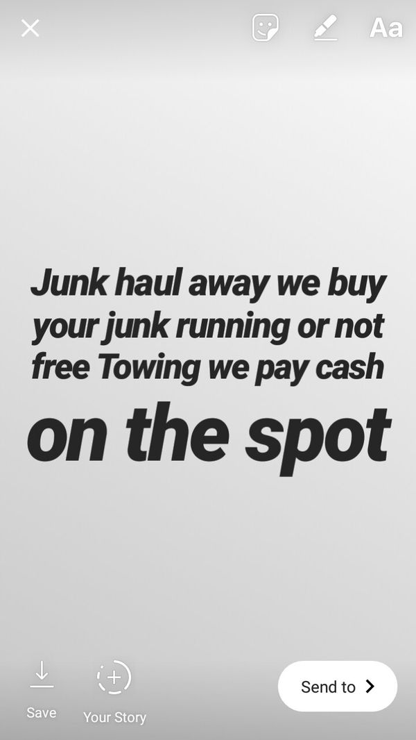 Junk haul away we buy your junk driving or not cash on the spot free ...