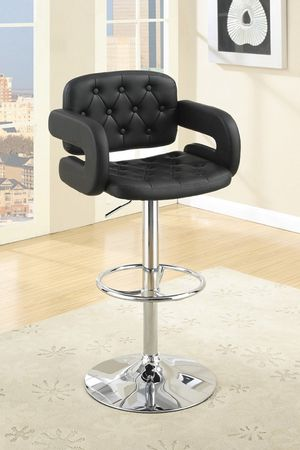 SET OF 2 BLACK BAR STOOLS