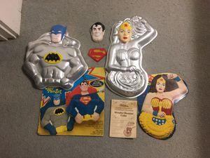 Vintage DC Comics superhero Wilton cake pans