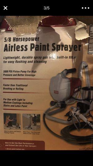 Like New Air Paint Sprayer 5/8 horsepower & New Pneumatic Hose