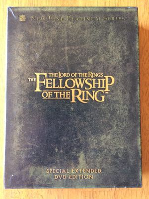 Lord of the rings fellowship of the ring DVDs deluxe