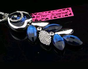 Bestey Johnson Royal Blue Crystal Love Necklace