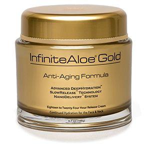 Infinite Aloe Gold anti-aging cream, scrub and moisturizer cream