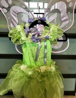 Beautiful halloween tinkerbell costumes for girl size 5 6 7 T