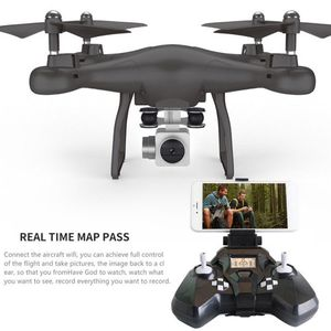 Quadcopter Drone with Remote Control HD 720P Camera 120 Degree Wide Angle Digital Video Recording Android or iOS Phone - Black NEW