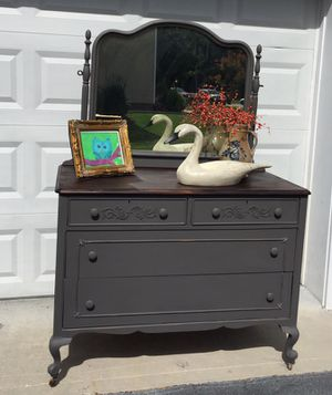 Antique slate gray chest/changing table/dresser/TV console/vanity/foyer piece