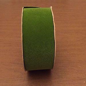 Green Velvet Florist Ribbon