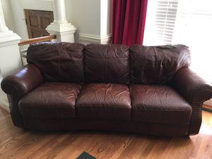 Leather sofa $95 local pickup cash