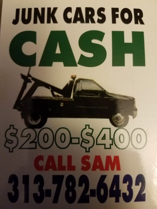 We buy junk cars top dollar paid call now (Cars & Trucks) in Detroit, MI
