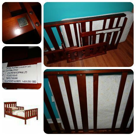 Jardine Bergamo Colonnade Toddler Bed In Cherry Color WITH Mattress Includes All The Pieces With