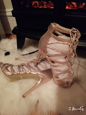 Pink pearl BEBE SANDALS NEW.7.5