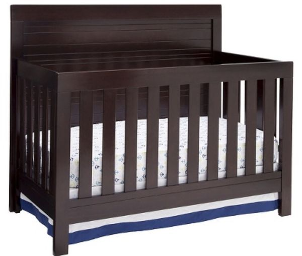 BRAND NEW IN BOX 4 In 1 SIMMONS ROWEN ESPRESSO WOOD CRIB TODDLER DAY BED Baby Kids Garden Grove CA