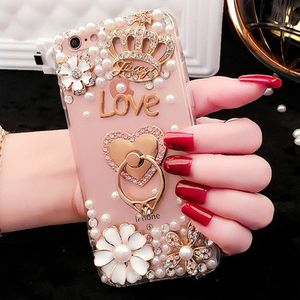 Luxury-Bling-Diamond-Pearl-Cell-Phone-Cases-for-IPhone-X, 8plus, 8, 7plus, 7..