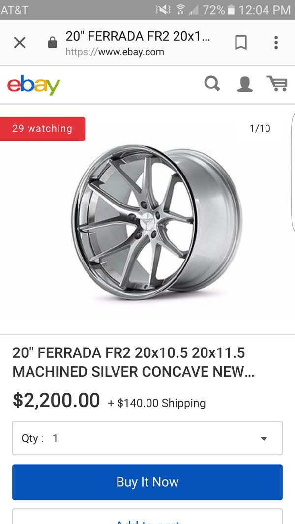 Ferrada FR2 20×10.5 - 5×114.3 - ET25 (4 Rims) (Auto Parts) in San ...