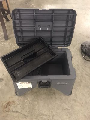 Black plastic case tool box
