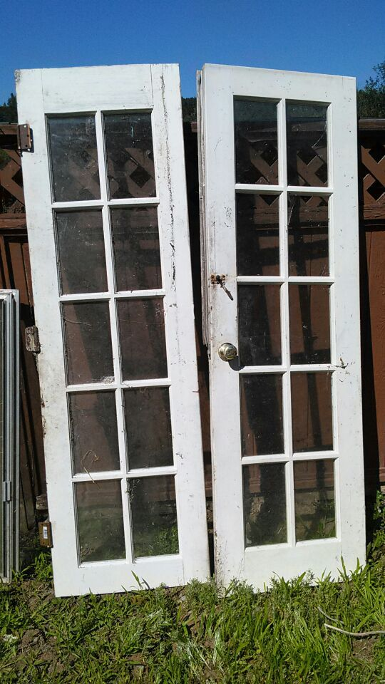 4 ft wide french doors w hardware household in renton wa - How wide are exterior french doors ...