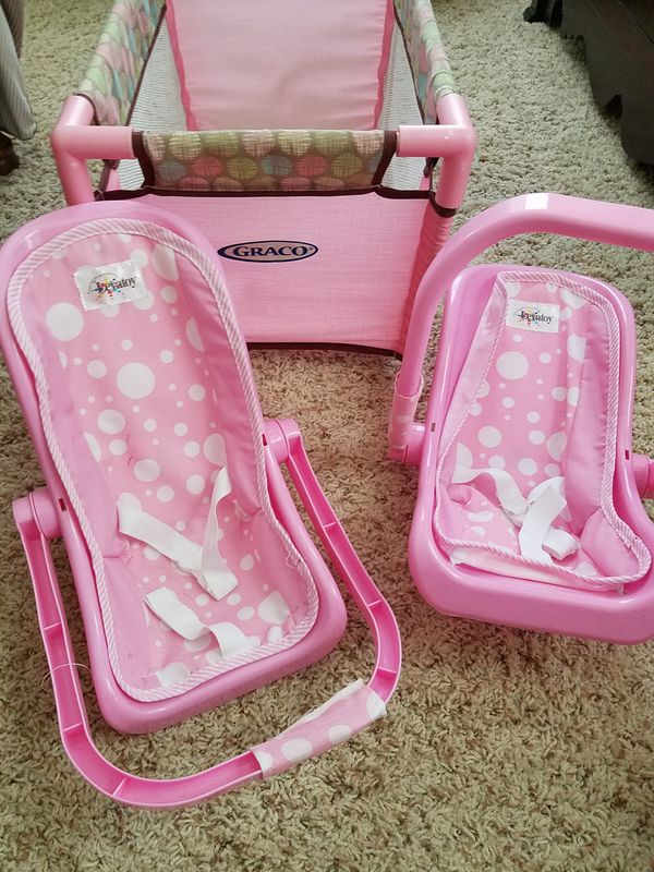 Baby doll crib and baby doll carriers