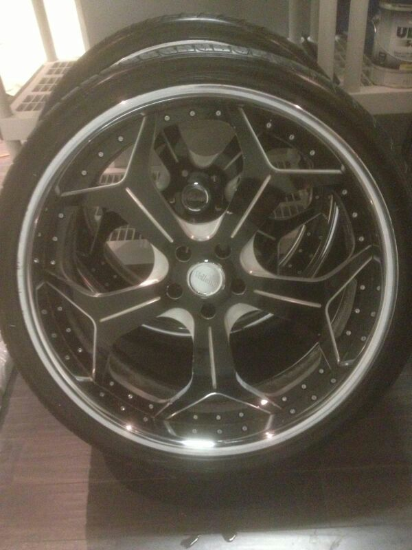 4) 24 inch Vellano tire rims and (3) Toyo tires l hardly used (Auto ...