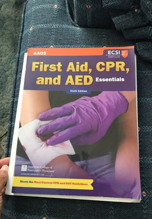 NEGOTIABLE First Aid, CPR, and AED textbook