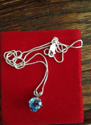 2.50 carat Blue Topaz Necklace