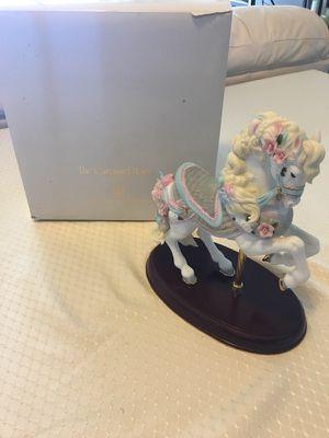 """The Carousel Horse"" Fine Porcelain Lenox Vintage Collector Horse With Original Box $75"