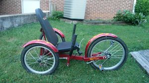 It is a 3 wheel adjustable trike for adults and it is made by Triton