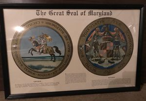 The Great Seal of Maryland Framed Print