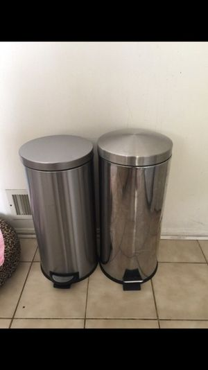 Garbage cans $10 each or $20 for both !!