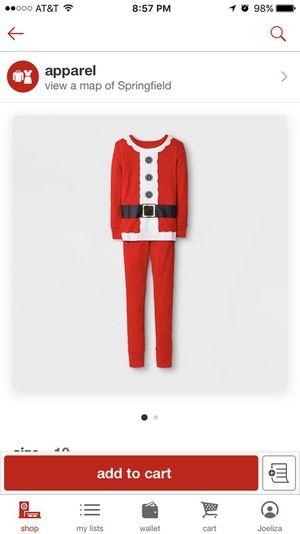 BRAND NEW Kids santa pajama set size 10