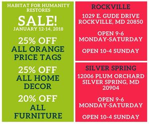 Weekend deal at Habitat for Humanity Restore