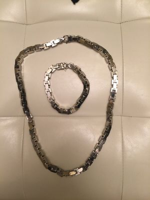 Brand New Stainless Steel 48 inches long Chain&Bracelet. LAWRENCEVILLE GA