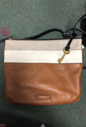 Fossil crossbody purse 100% leather